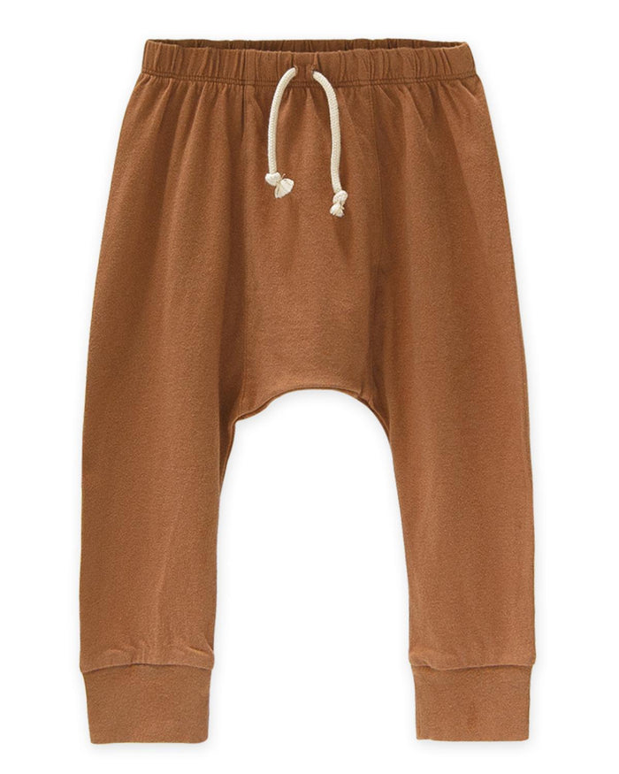 Little go gently nation boy 2 jersey harem pant in adobe