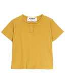 Little go gently nation girl jersey henley in golden