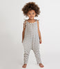 Little go gently nation girl jersey jumpsuit in navy stripe
