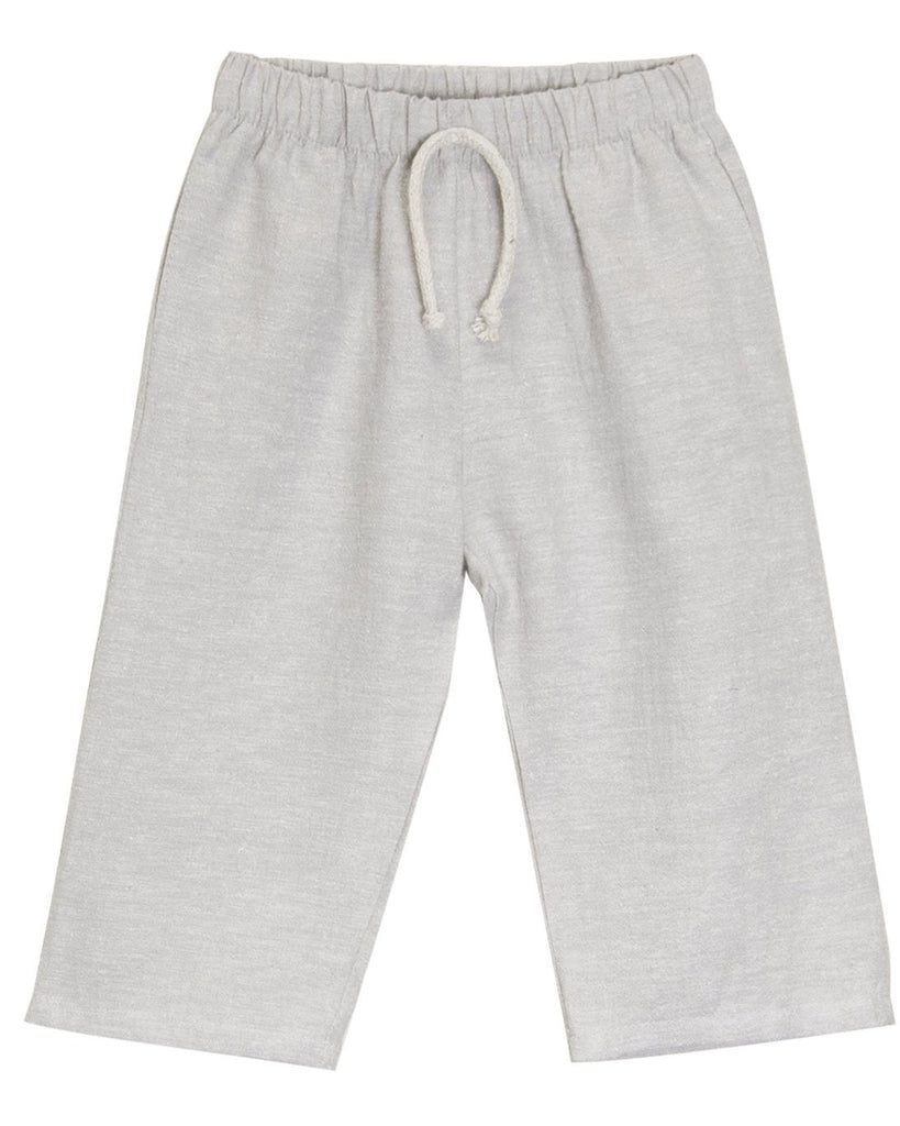 Little go gently nation girl lawn pant in dove gray
