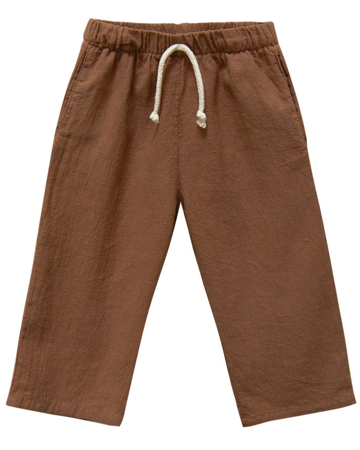 Little go gently nation girl lawn pant in hazelnut