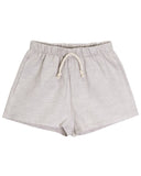 Little go gently nation girl lawn short in dove gray