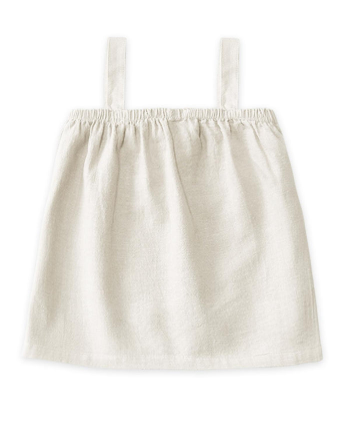 Little go gently nation baby girl 3-6 meadow top in white