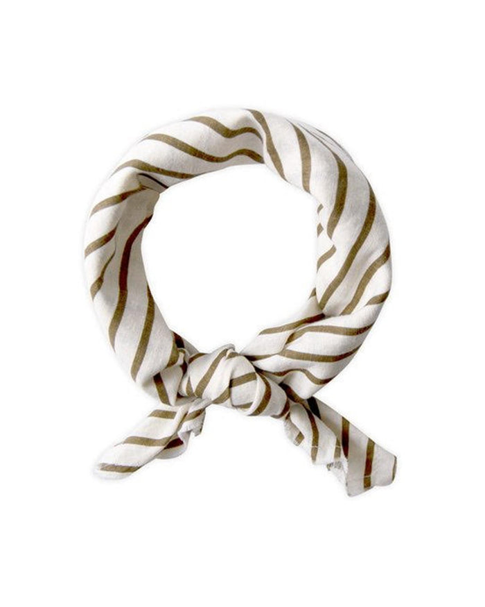 Little go gently nation accessories neckerchief in fennel stripe