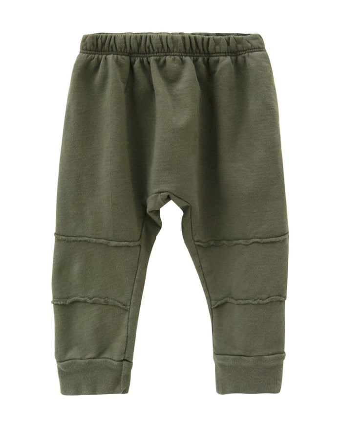 Little go gently nation boy panel track pant in moss