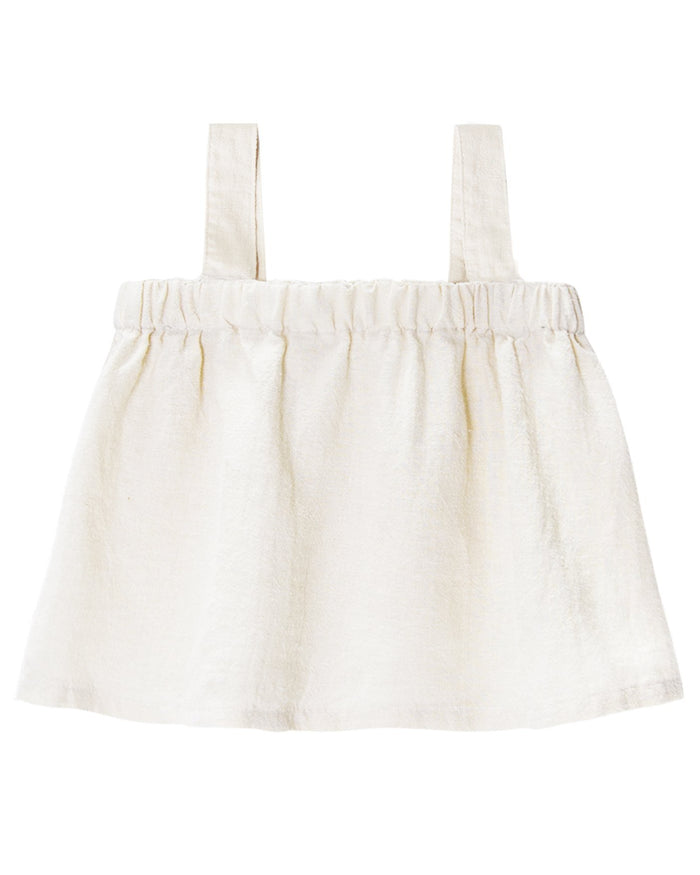 Little go gently nation girl paperbag top in natural
