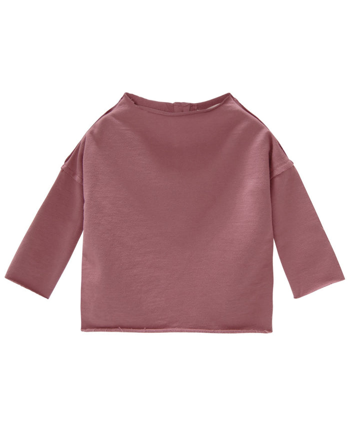 Little go gently nation girl pullover sweatshirt in berry