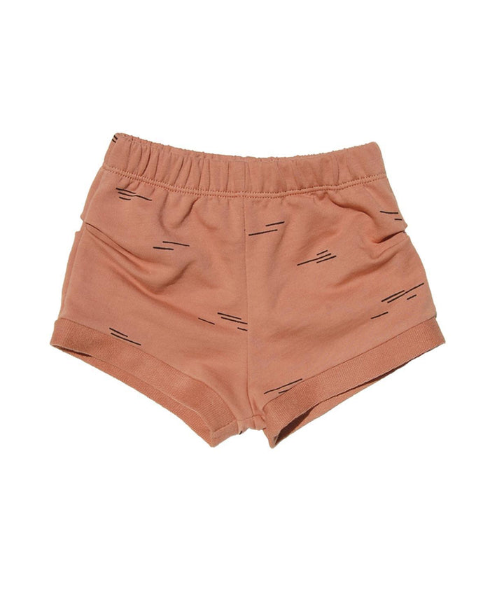 Little go gently nation girl 2 roller girl short in terra cotta