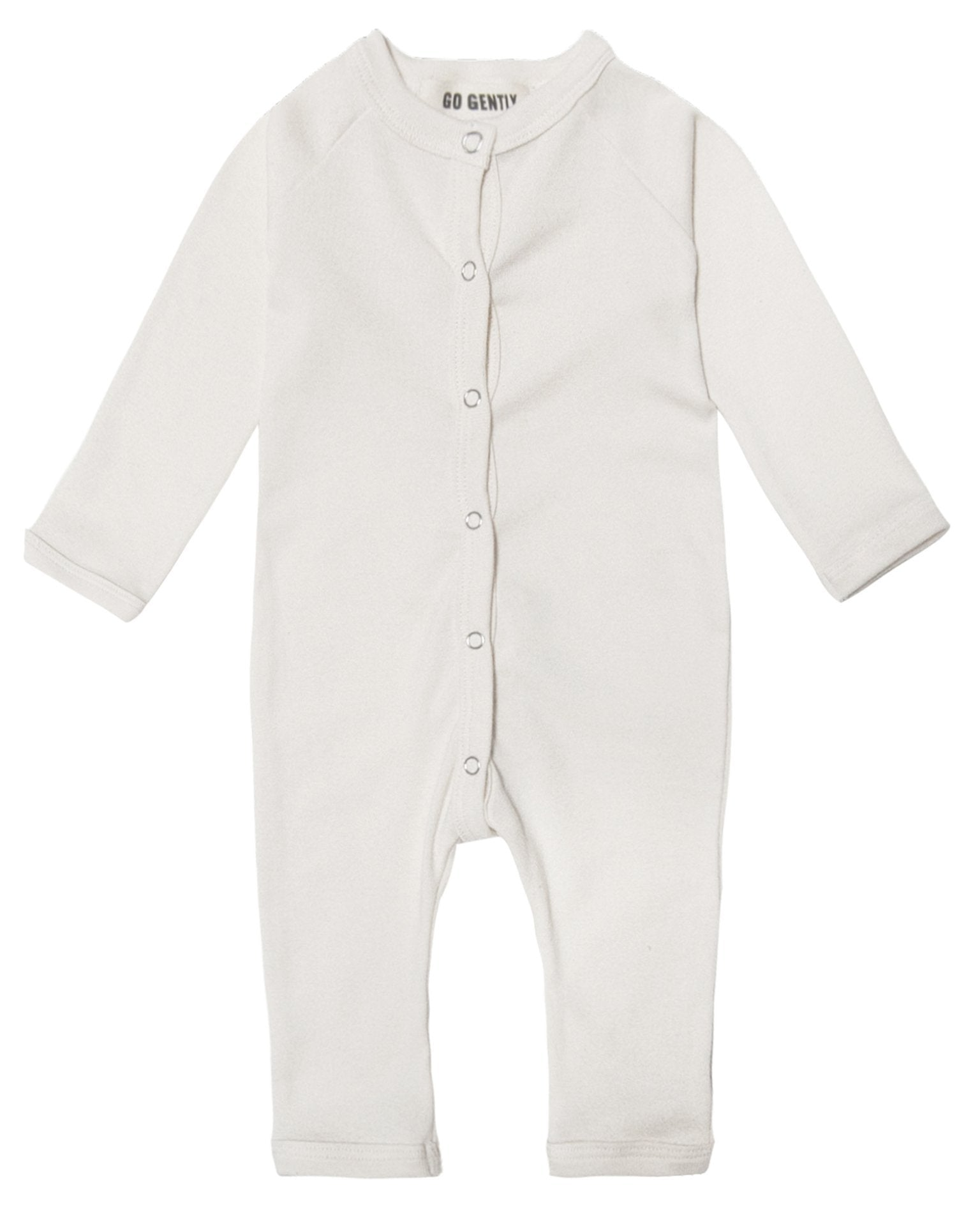 Little go gently nation baby boy solid romper in natural