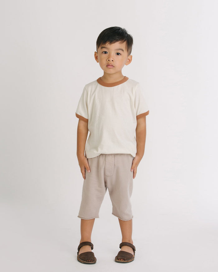 Little go gently nation boy 2 trouser short in sandstone