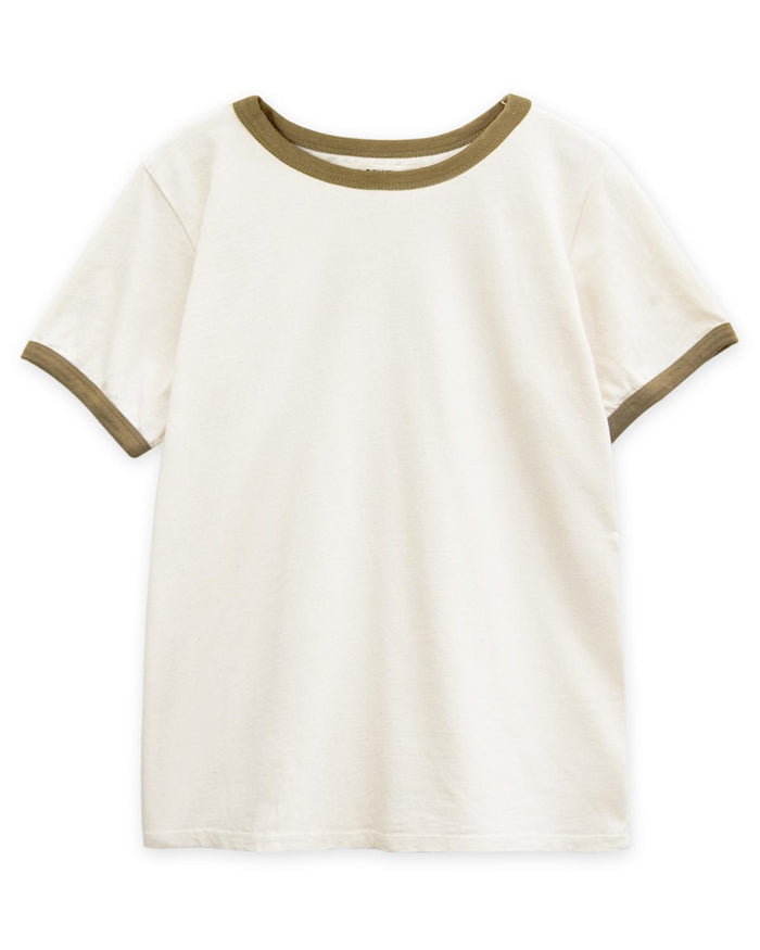 Little go gently nation boy 2 vintage tee in natural + fennel