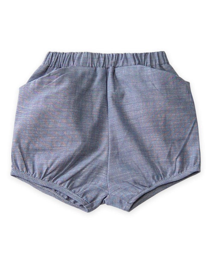 Little go gently nation girl 2 woven short in chambray