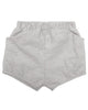Little go gently nation girl woven short in dove gray