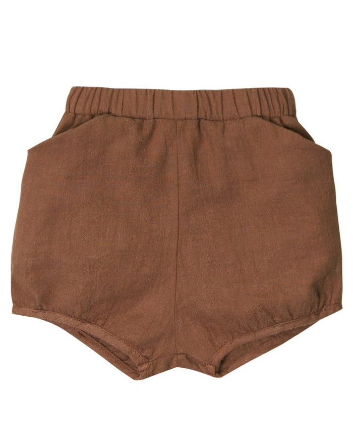 Little go gently nation girl woven short in hazelnut