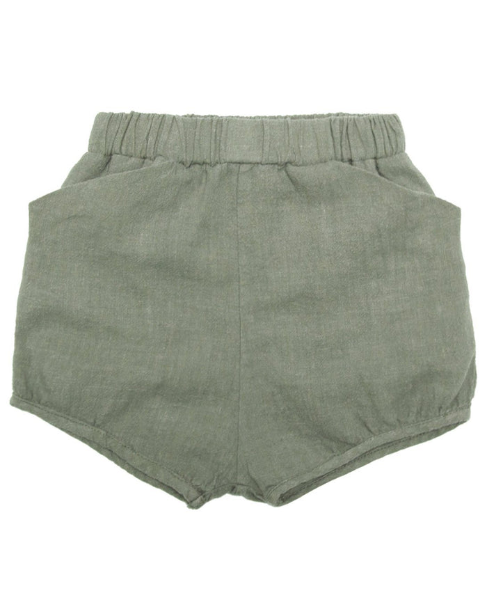 Little go gently nation girl woven short in thyme