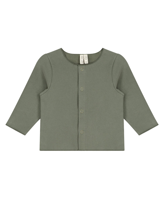 Little gray label baby boy baby cardigan in moss