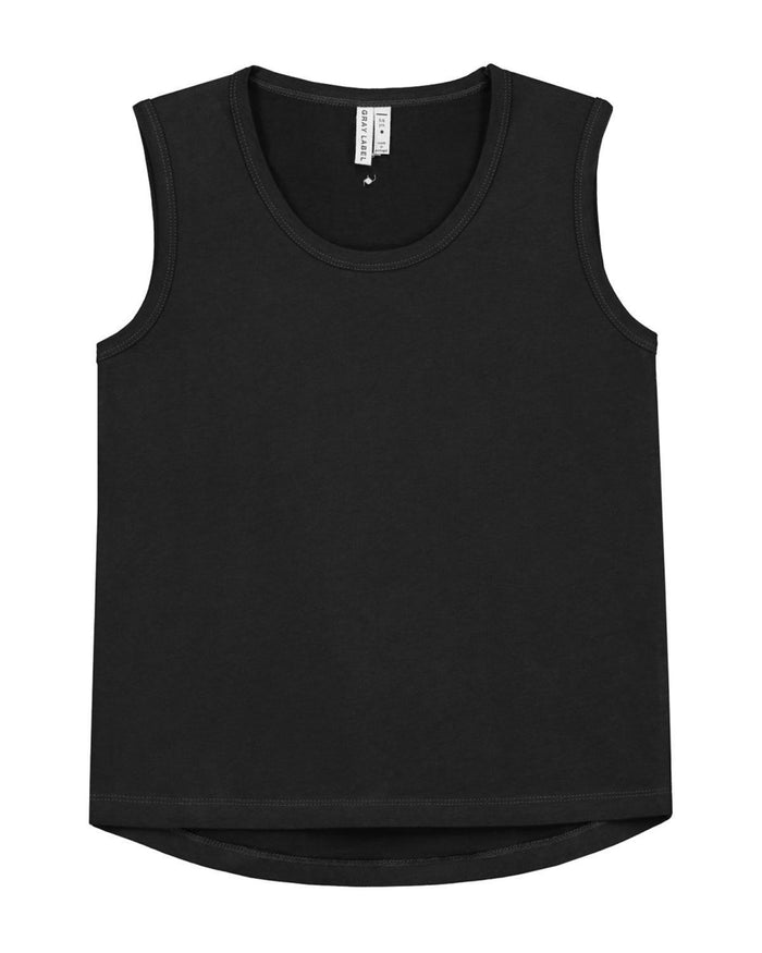 Little gray label baby boy 12-18m baby classic tank top in nearly black