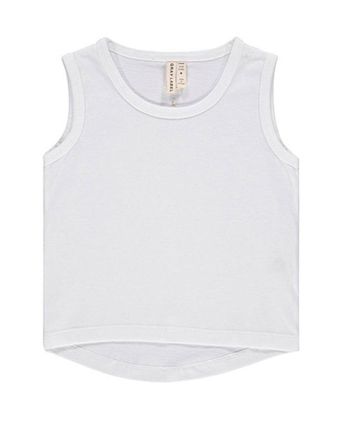 Little gray label baby girl 12-18m baby classic tank top in white