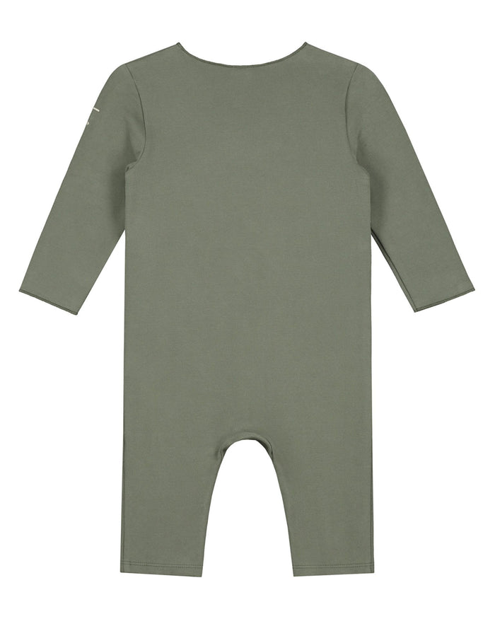 Little gray label baby boy baby cross over suit in moss