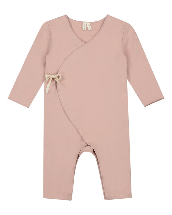 Little gray label baby girl baby cross over suit in vintage pink
