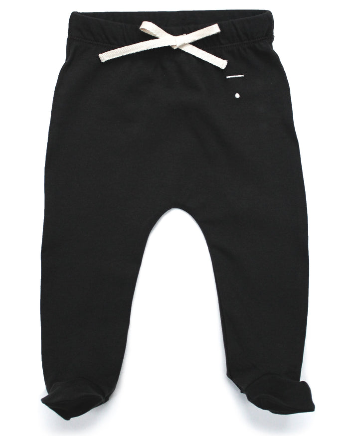 Little gray label baby boy baby footies in nearly black