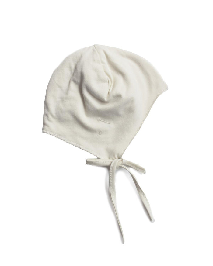 Little gray label baby accessories nb baby hat + strings in cream