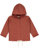 Little gray label baby boy baby hooded cardigan in faded red