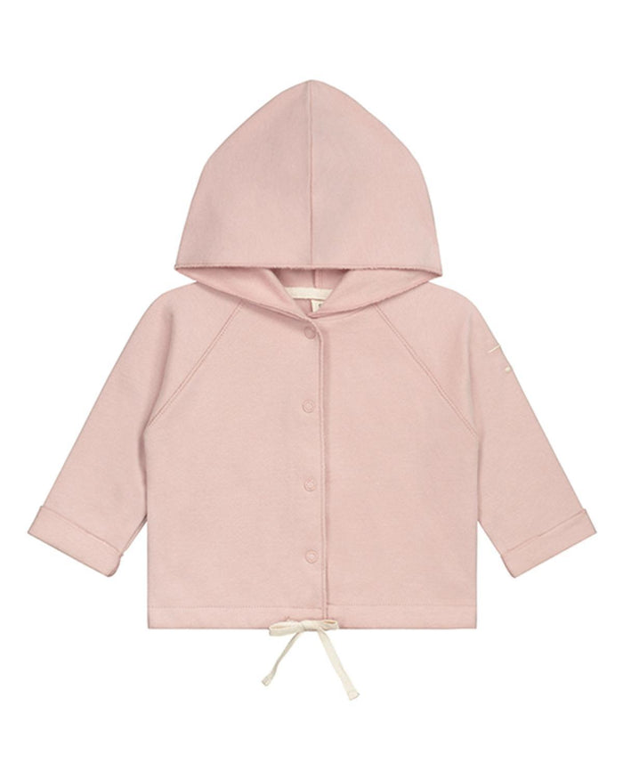 Little gray label layette 0-3 baby hooded cardigan in vintage pink