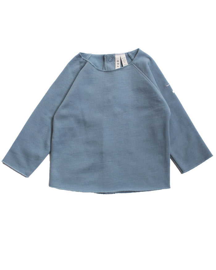 Little gray label layette 0-3 baby jumper in denim