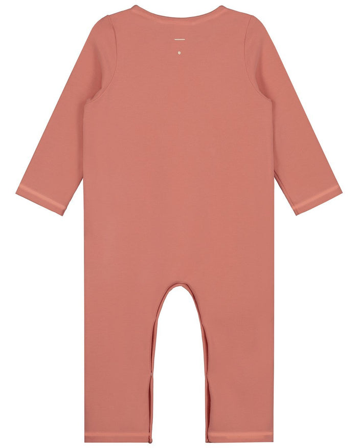 Little gray label baby boy baby long sleeve playsuit in faded red