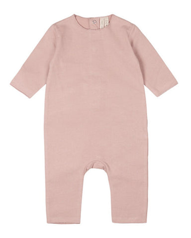 Little gray label layette 0-3 baby long sleeve playsuit in vintage pink