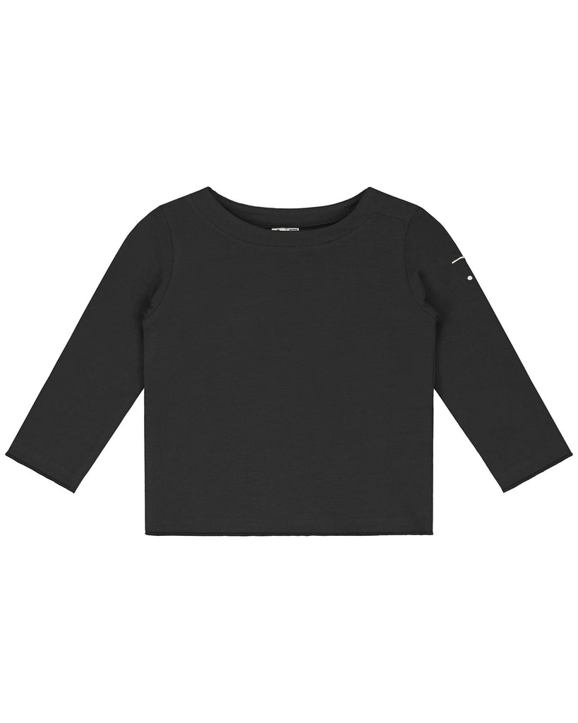 Little gray label baby boy baby long sleeve tee in nearly black
