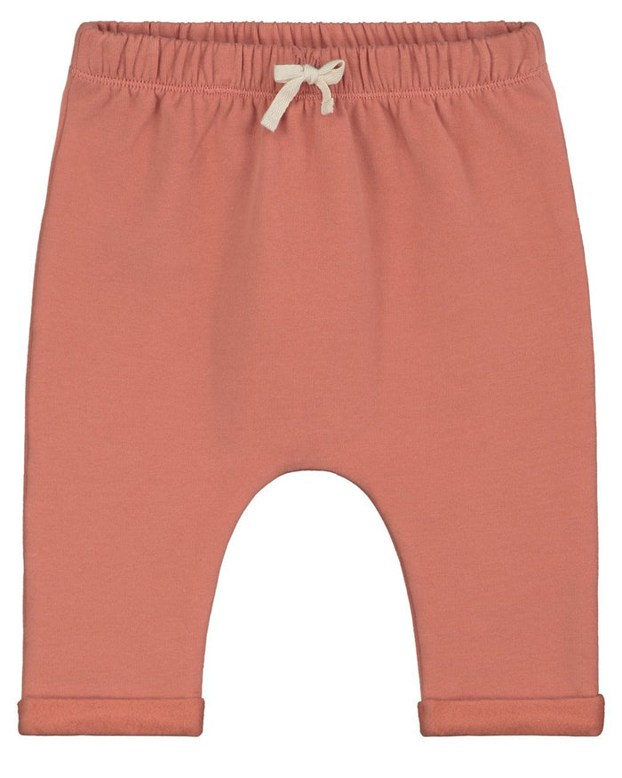 Little gray label baby boy baby pants in faded red