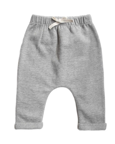 Little gray label layette 0-3 baby pants in grey melange