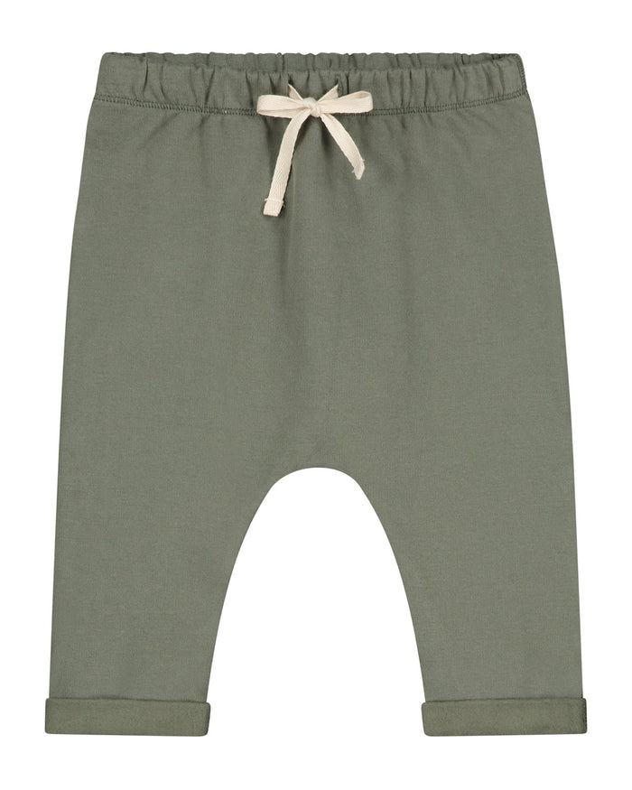Little gray label baby boy baby pants in moss