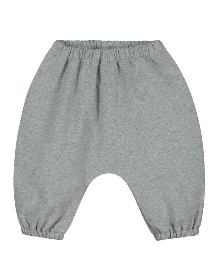Little gray label baby boy baby sarouel trousers in grey melange
