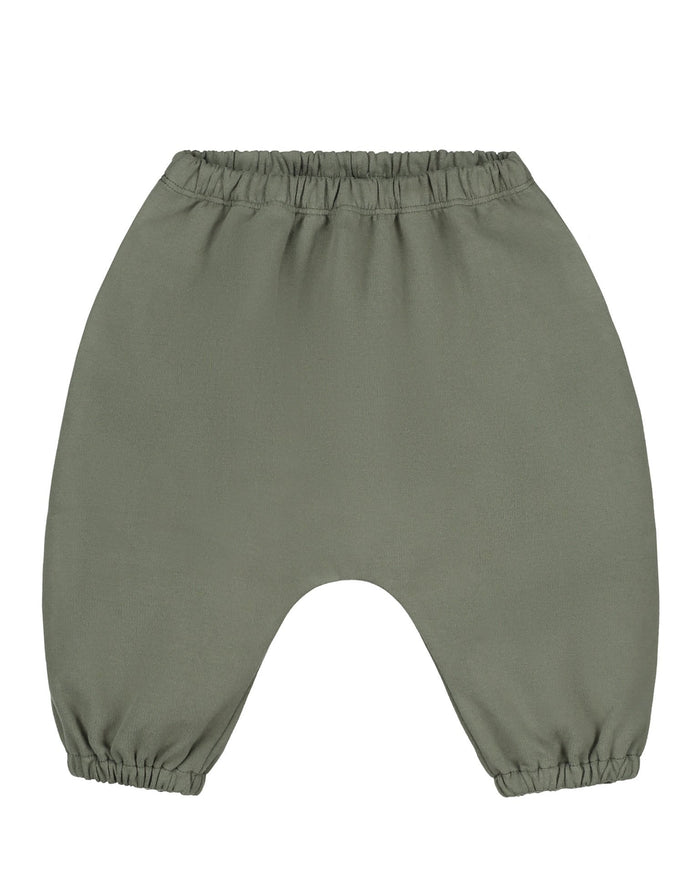 Little gray label baby boy baby sarouel trousers in moss