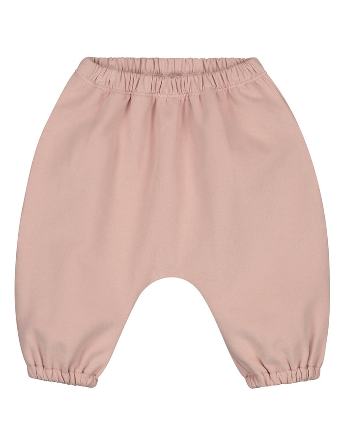 Little gray label baby girl baby sarouel trousers in vintage pink