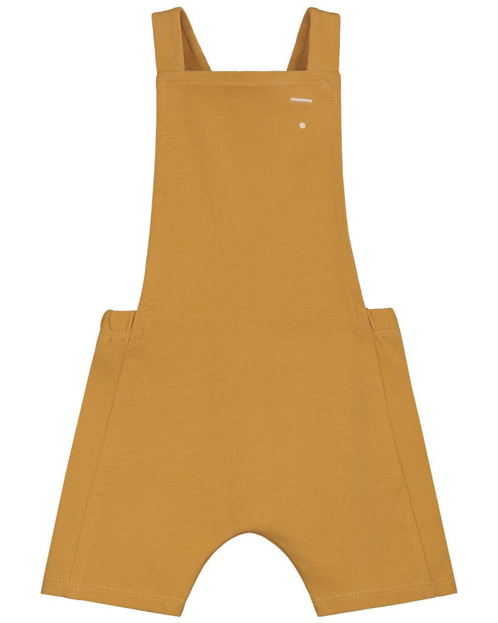 Little gray label baby boy baby short salopette in mustard