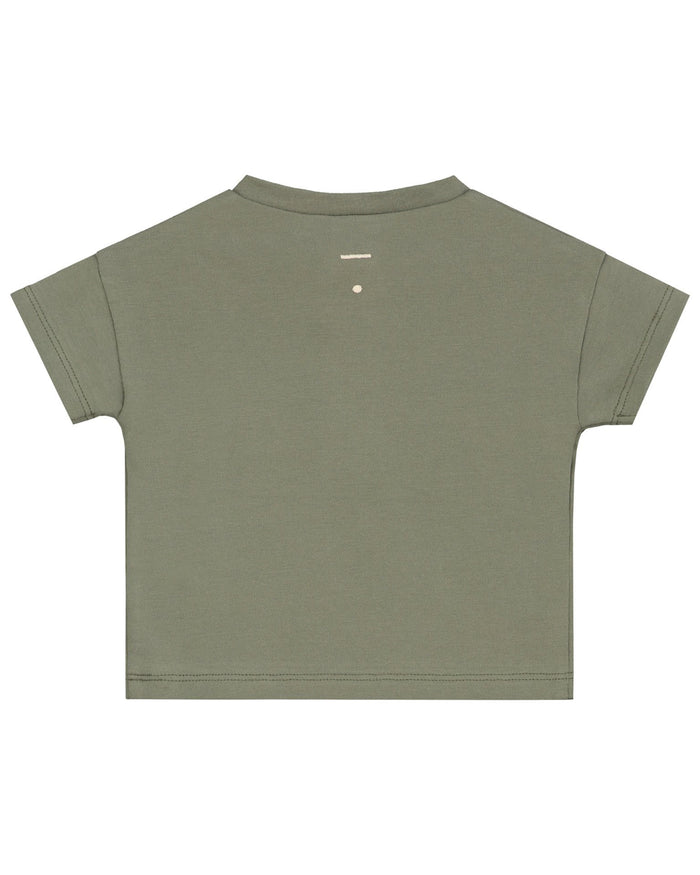 Little gray label baby boy baby short sleeve henley tee in moss
