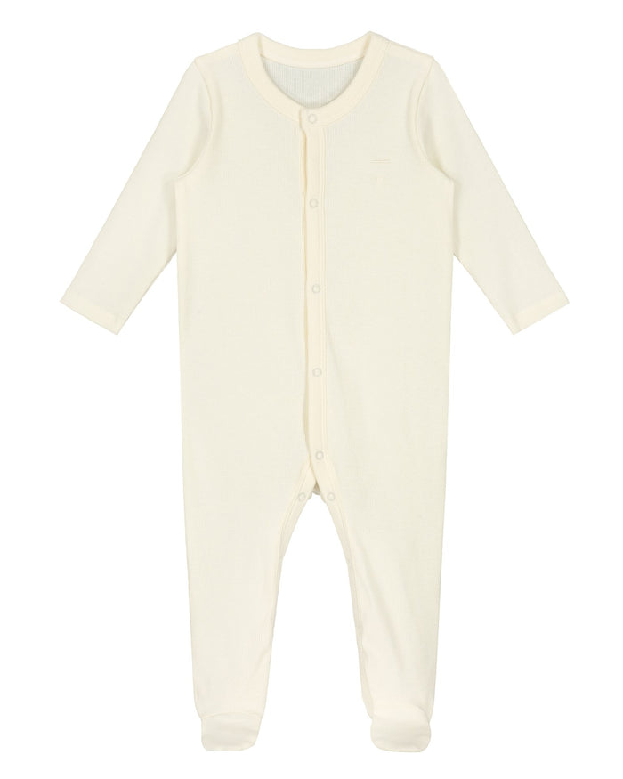Little gray label baby girl baby sleep suit in cream