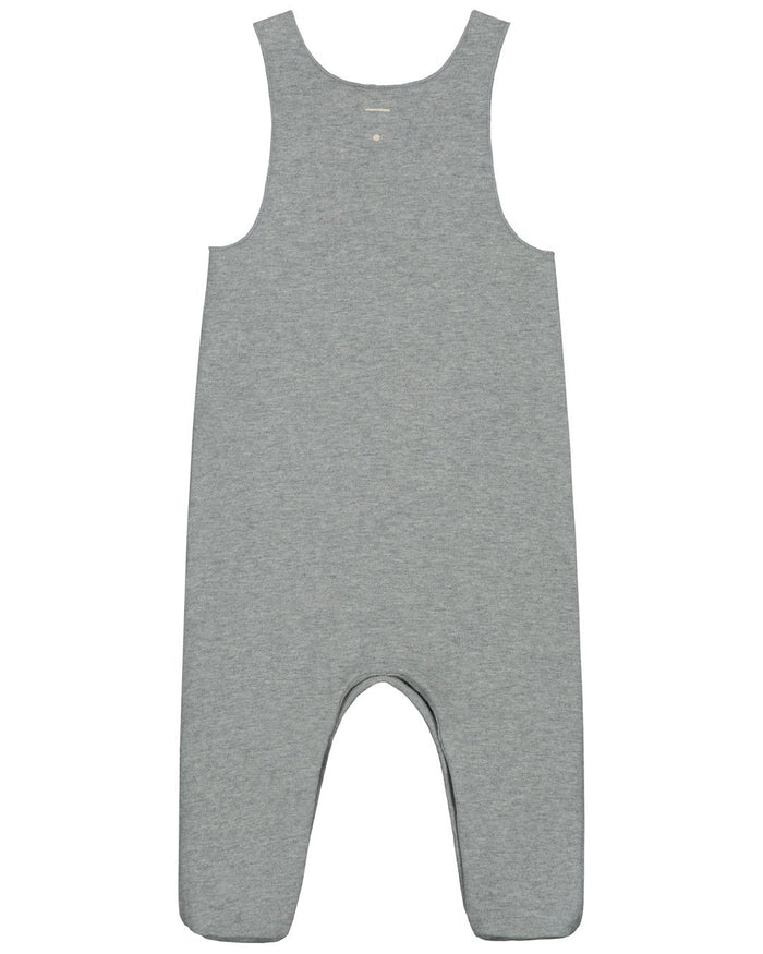 Little gray label baby boy baby sleeveless suit in grey melange