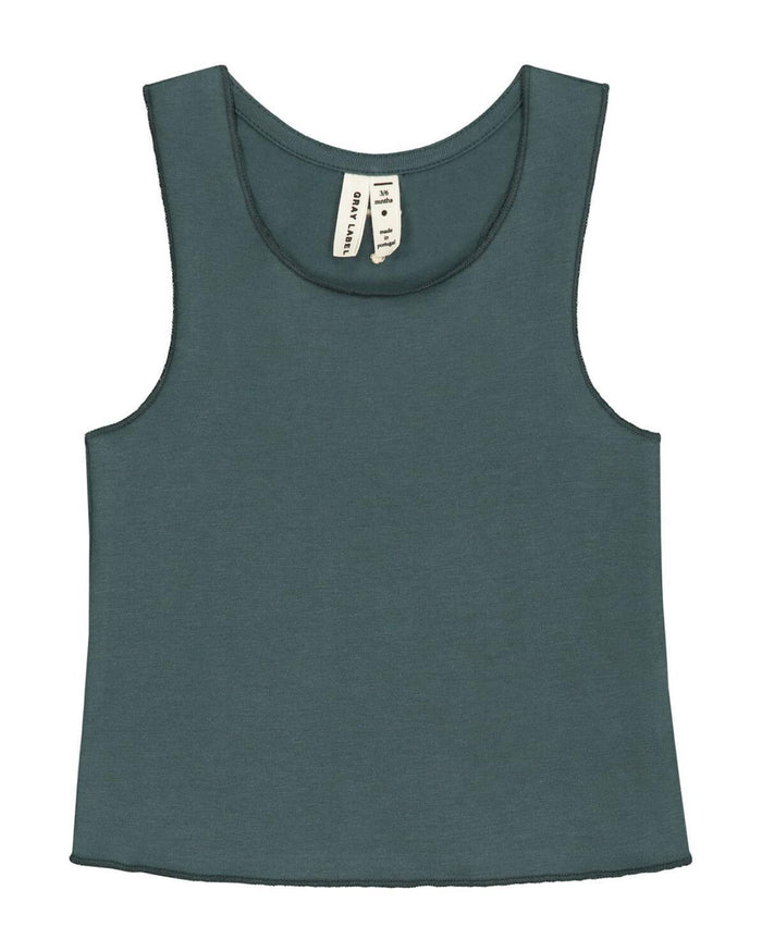 Little gray label layette 0-3 baby tank top in blue grey