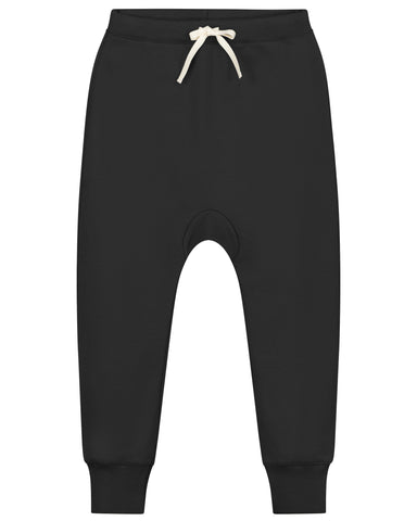 Little gray label boy baggy pants in nearly black