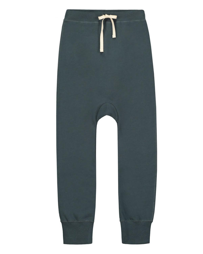Little gray label boy 2-3 baggy seamless pants in blue grey