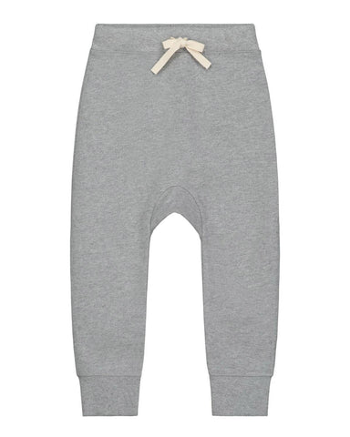 Little gray label boy 12-18 baggy seamless pants in grey melange