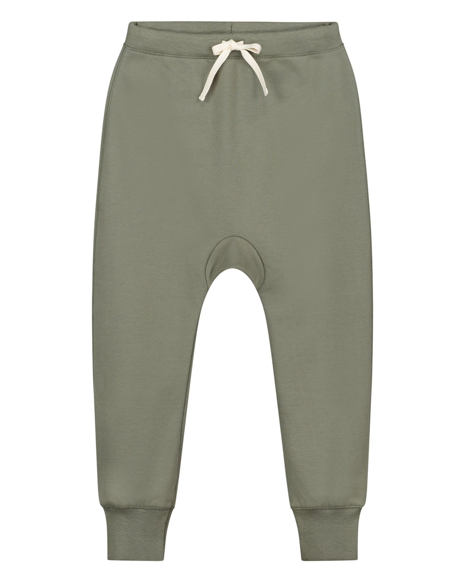 Little gray label baby boy baggy seamless pants in moss