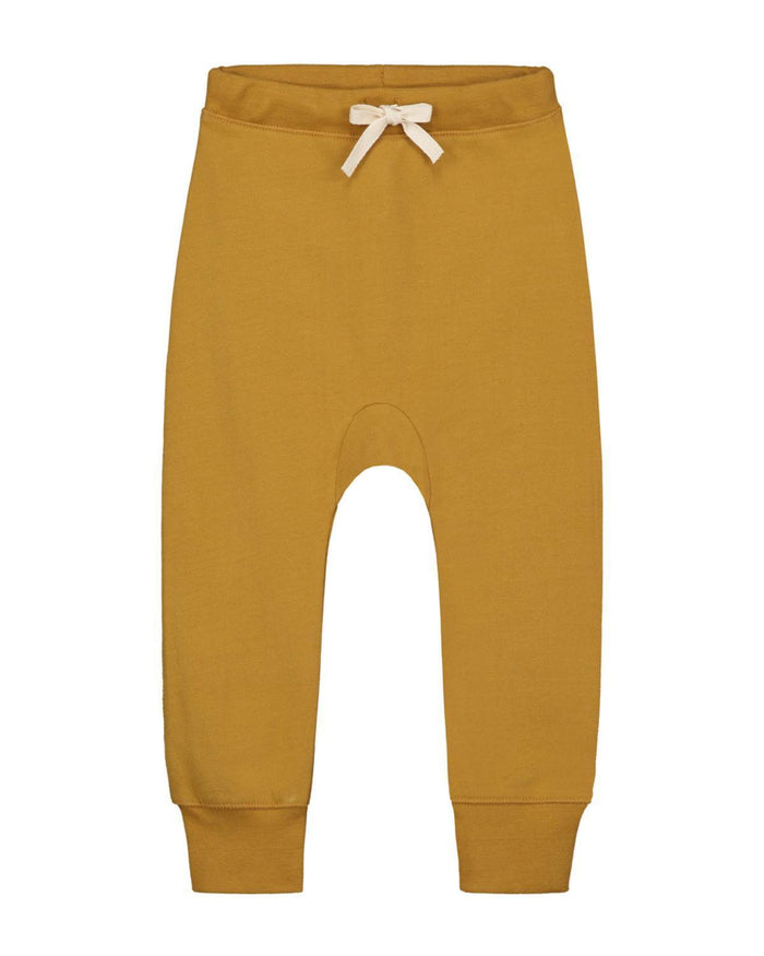 Little gray label boy 2-3 baggy seamless pants in mustard