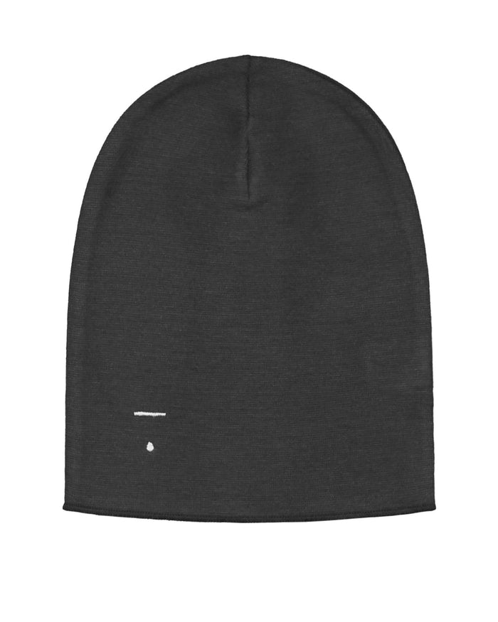 Little gray label accessories beanie in nearly black