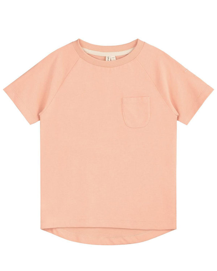 Little gray label girl 12-18 classic crewneck tee in pop